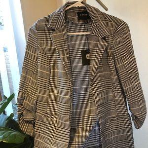 Brand new! ASOS black & white checkered blazer